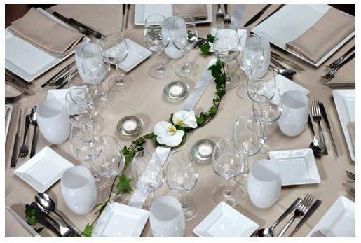 свадебное украшение стола жениха и невесты