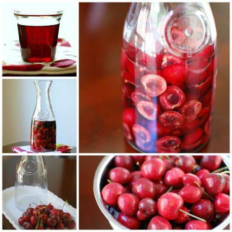 Быстрая настойка из вишни на водке