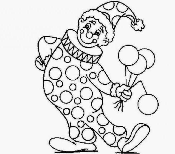 Скоморохи картинки раскраски для детей