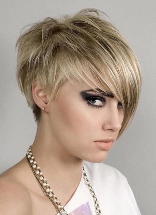 short haircuts for girls with bangs