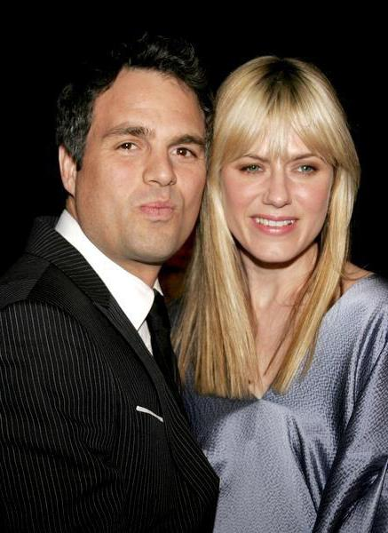 Mark Ruffalo with his wife