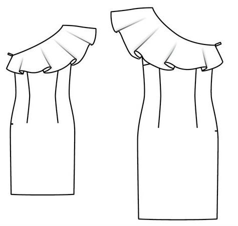 Как сшить воланы из ткани на платье