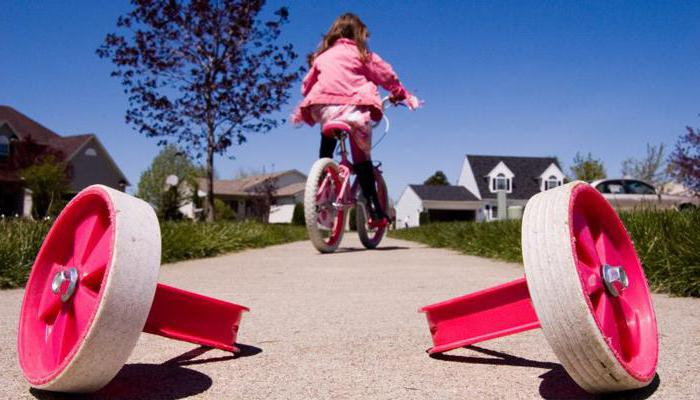 How to teach a child to ride a two-wheeled bicycle