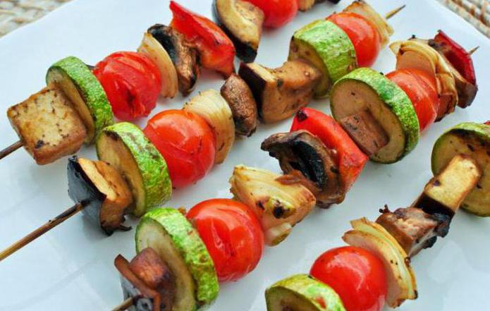 Шашлык из овощей, рецепты