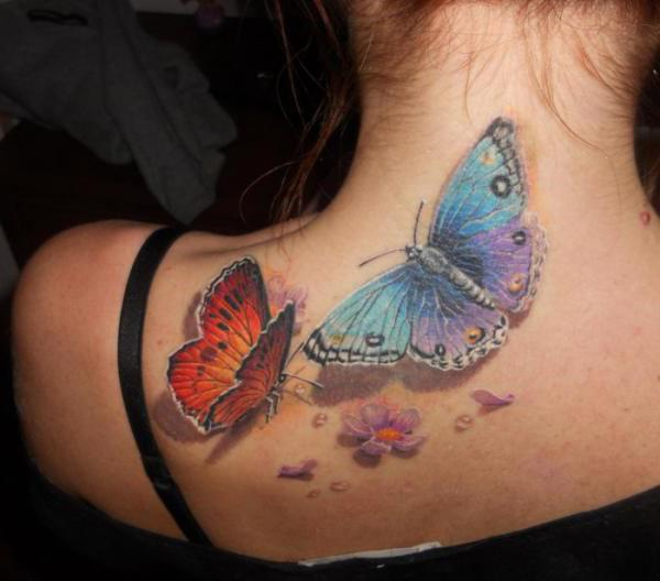 what does the butterfly tattoo on the neck mean