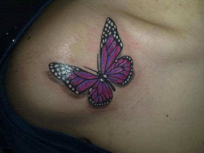 what does tattoo butterfly on foot