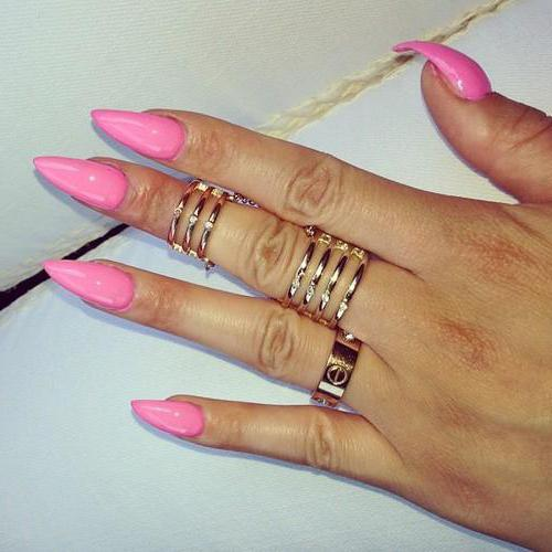 french on sharp nails