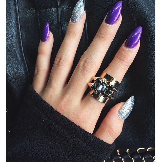 Дизайн острой формы ногтей фото