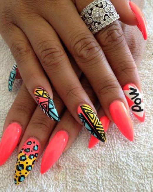 sharp extended nails