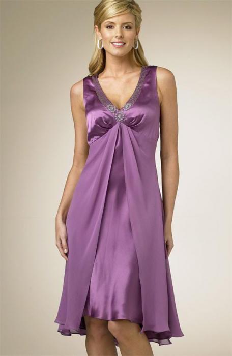 Платье из шелка фасоны