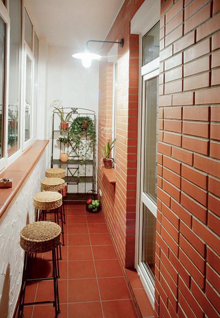 оформление балкона изнутри фото