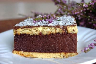 Mannik cake on kefir