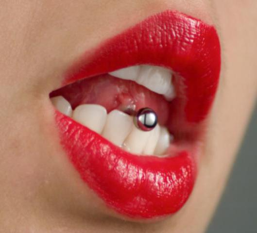 How much does the puncture of the tongue heal