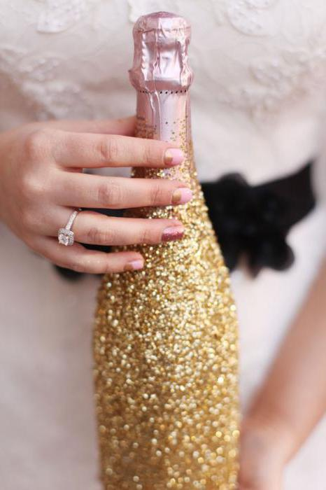 Бутылки для шампанского на свадьбу своими руками