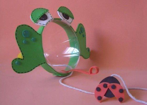бутылок лягушка из пластиковых инструкция
