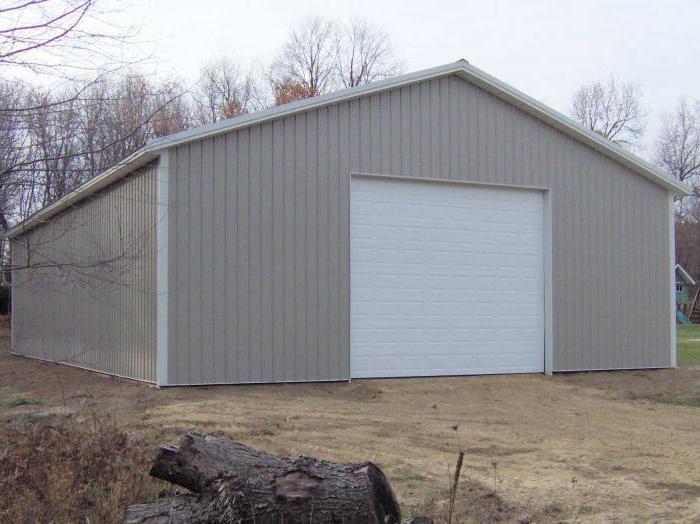 Как построить гараж своими руками с профнастила 92