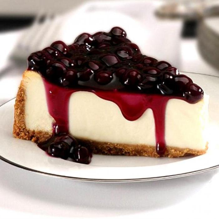 Десерт из черники и творога