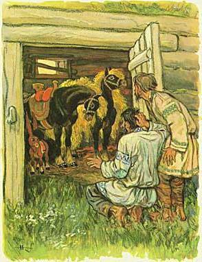 Сказка как мужик гусей делил. читать