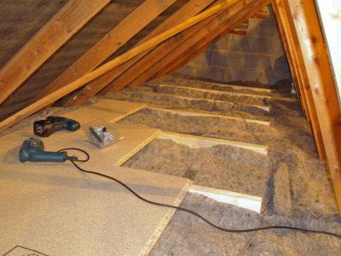 Wooden attic floor