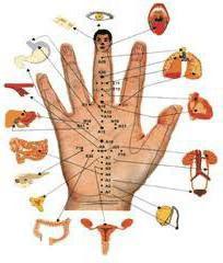 точки акупунктуры на руке