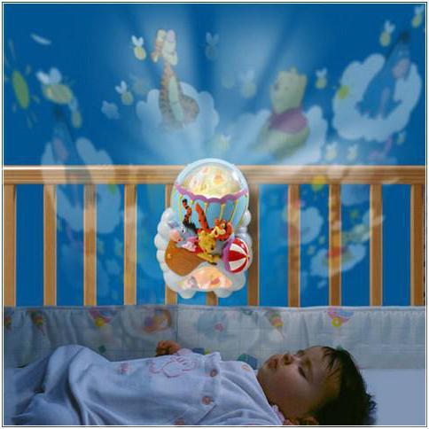night light for newborns on the bed