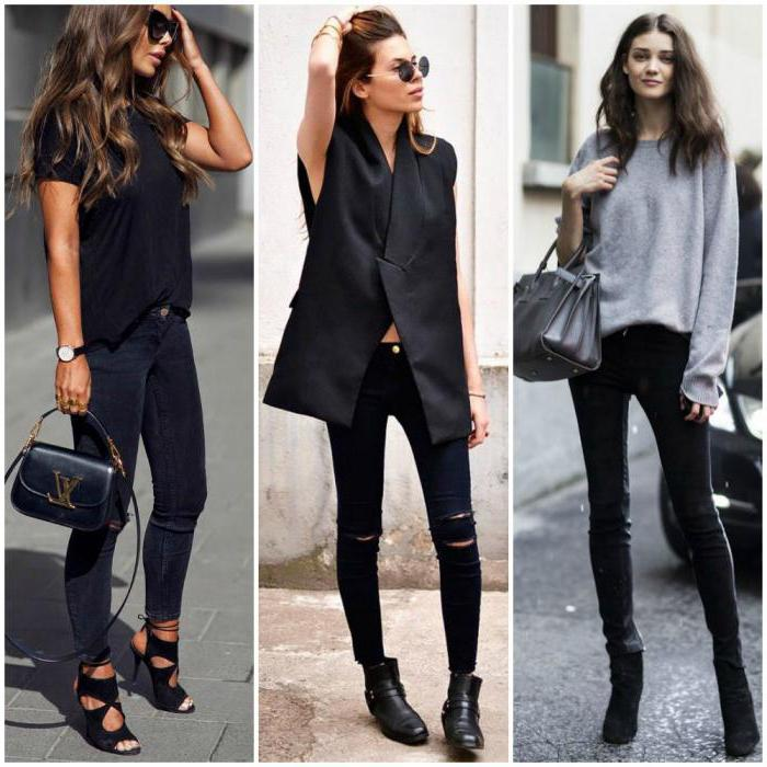 Черные джинсы с чем носить женщинам