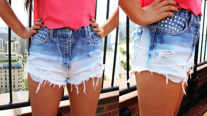 Как сделать махры на джинсовых шортах