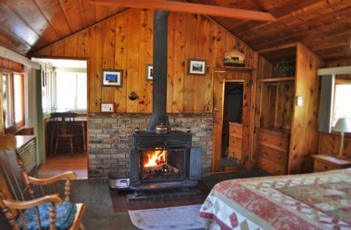 wooden cottage interior