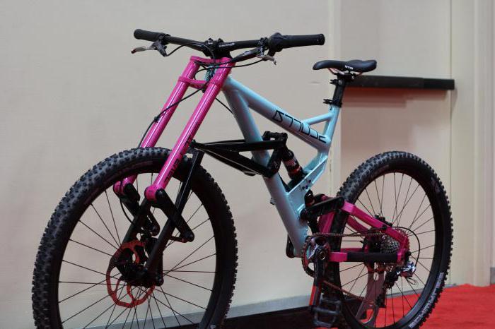 складной двухподвесный велосипед