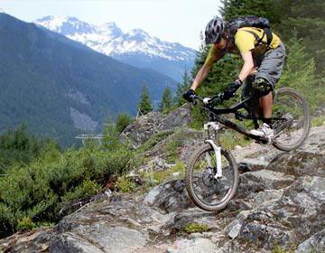 горный двухподвесный велосипед
