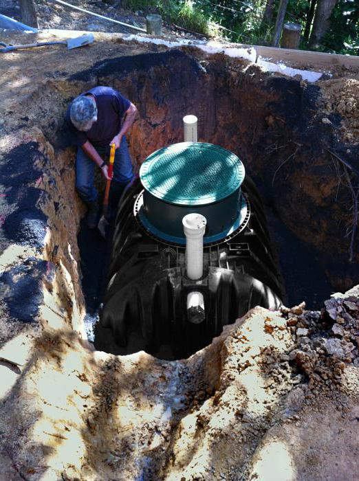 septic tank to give