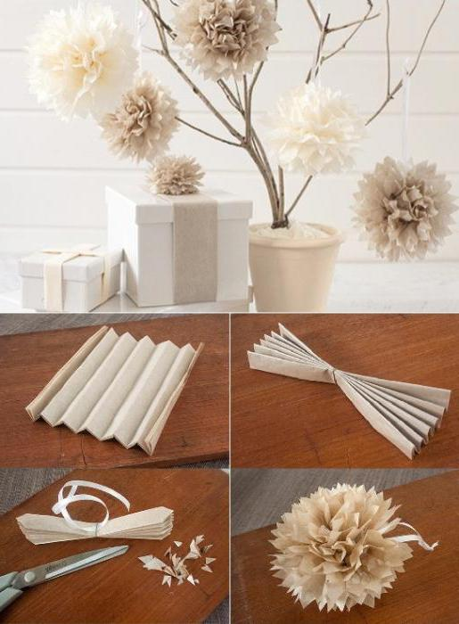 pompons made of paper do it yourself master class