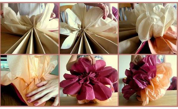 paper pompons do it yourself step by step