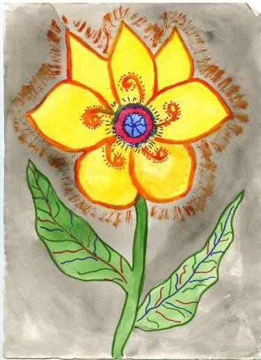 Цветок из рассказа неизвестный цветок рисунок
