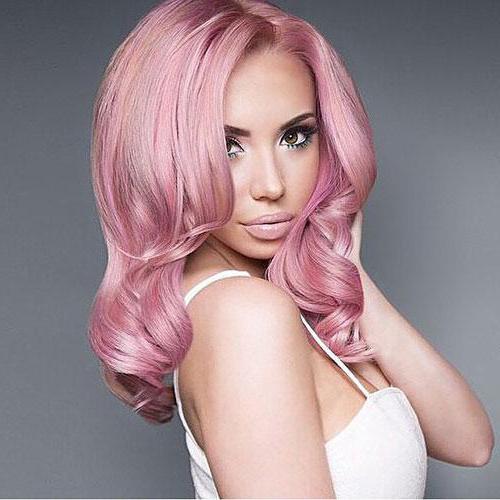 Розовый цвет волос краска