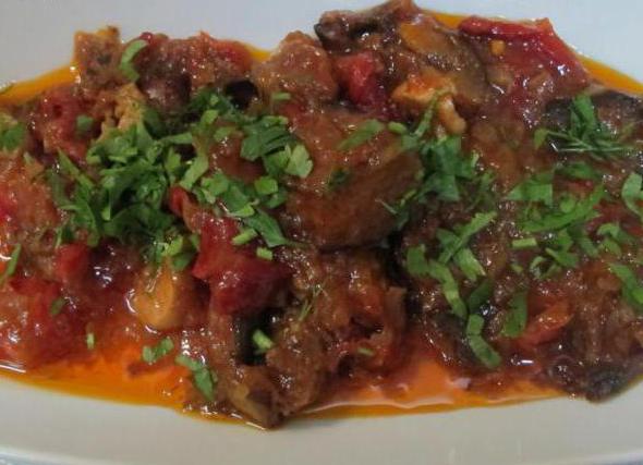 Imam Bayaldy recipe with meat