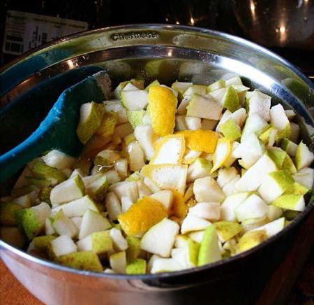 recipe for pear jam with lemon