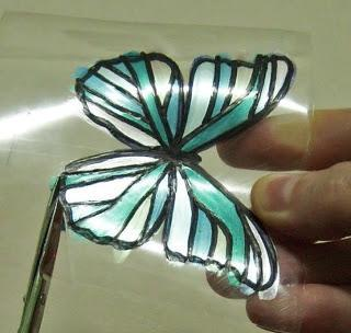 from a plastic bottle butterfly