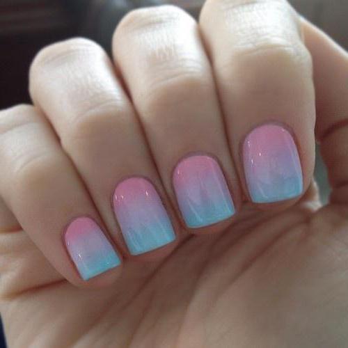 summer manicure for short nails