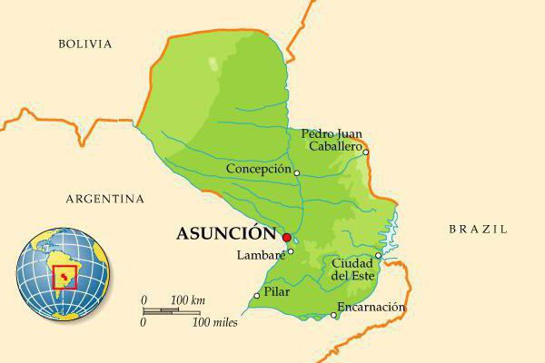 Paraguay Asuncion the capital of where