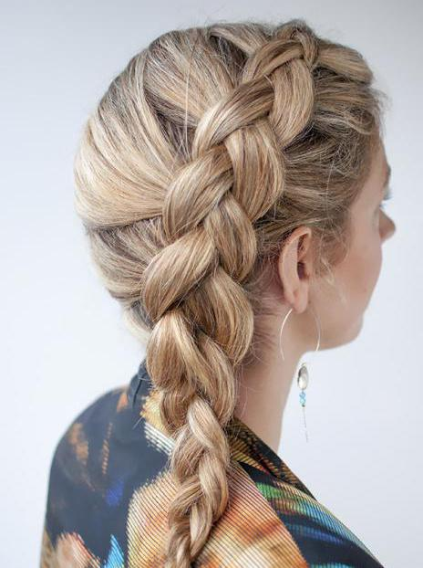 french braid on the contrary how to weave