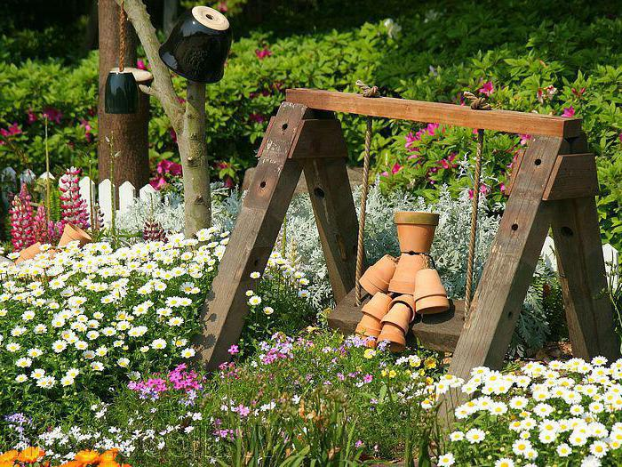 украсить садовый участок картинки