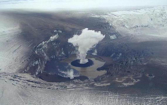 действующий вулкан в исландии