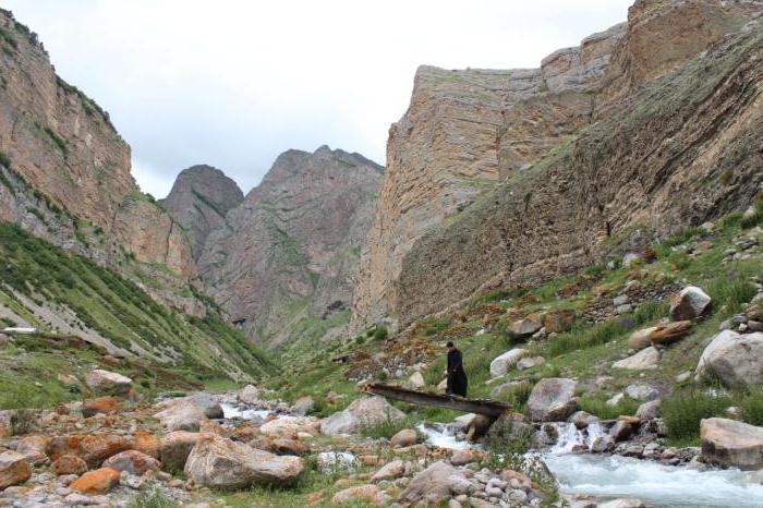 Chegem gorge and waterfalls