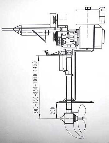 Лодочный мотор из бензопилы своими руками чертежи 33