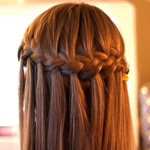 фото косоплетение на длинные волосы
