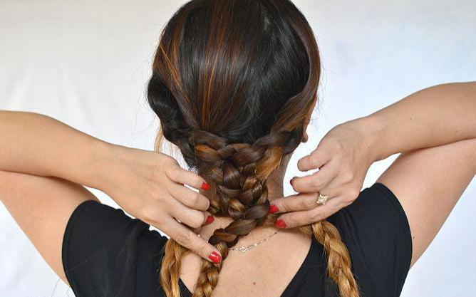Красивые колоски на длинные волосы