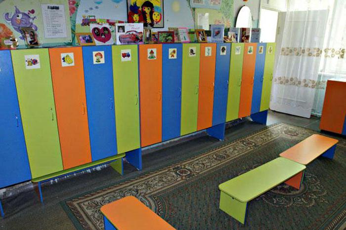 dressing room decoration in kindergarten photo