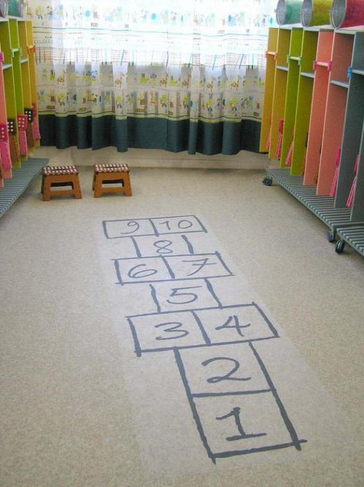 stands for the design of dressing rooms in kindergarten