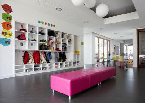 dressing room design in kindergarten